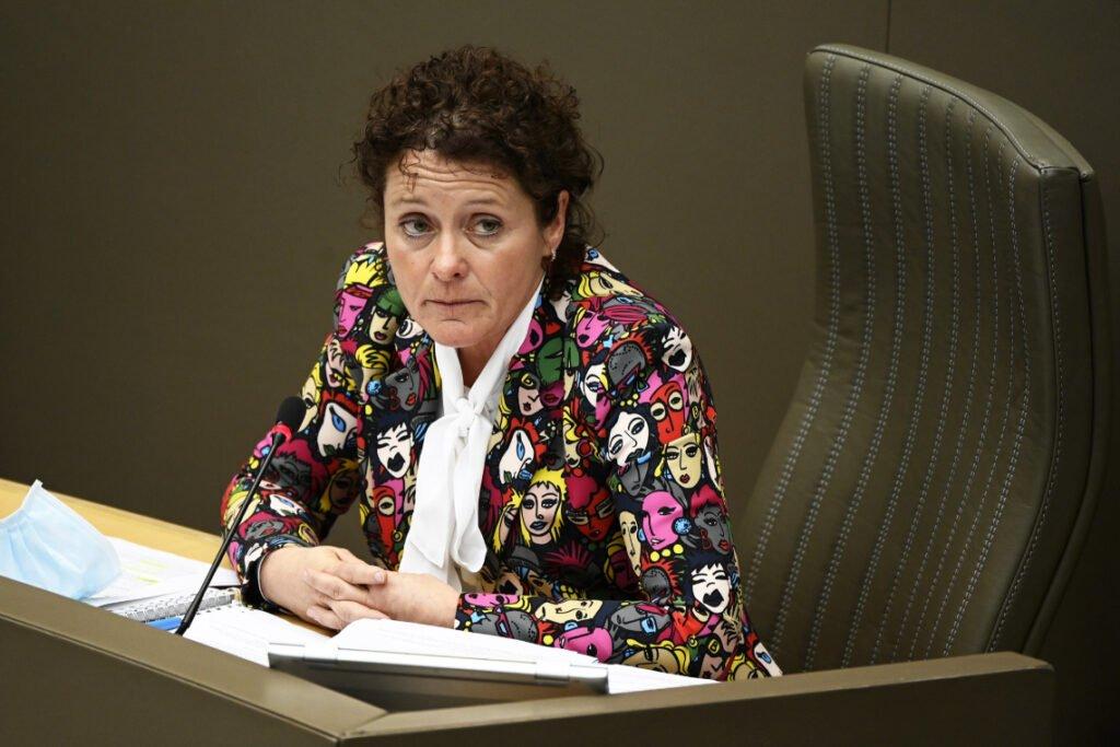 Vlaams minister van Mobiliteit en Openbare Werken Lydia Peeters (Open Vld). Photo News