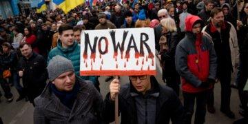 Een mars in Moskou tegen de oorlog (2014). Foto Shutterstock.